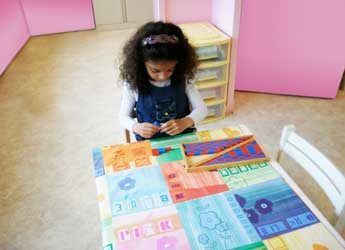 learning to count with the Montessori material